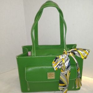 VERY RARE COLOR ABSOLUTELY GREAT GREEN SATCHEL
